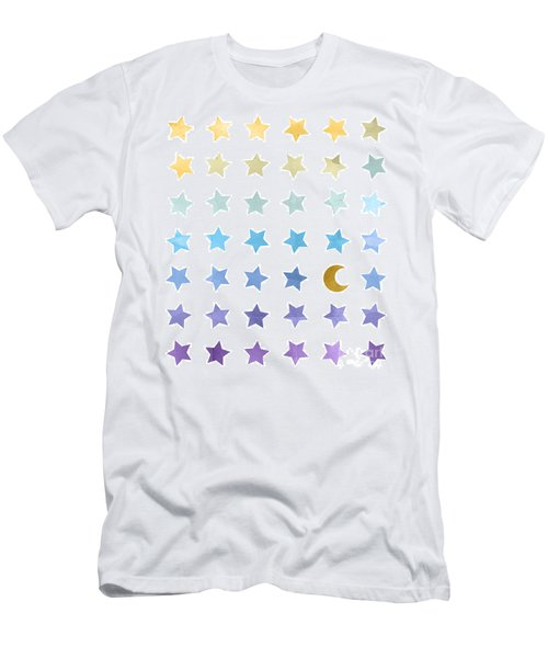 Ombre Cosmos Men's T-Shirt (Slim Fit) by Whitney Morton