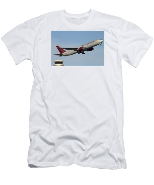Omni Air International Boeing 767-319 N396ax Phoenix Sky Harbor January 2 2015 Men's T-Shirt (Athletic Fit)