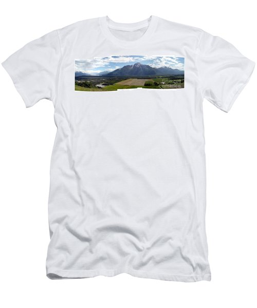 On A Butteiful Day Men's T-Shirt (Slim Fit) by Ron Bissett