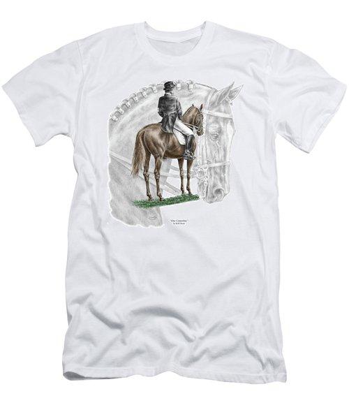 On Centerline - Dressage Horse Print Color Tinted Men's T-Shirt (Athletic Fit)