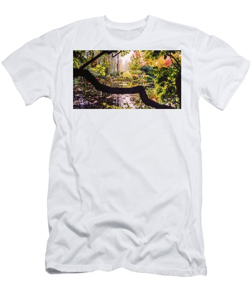 On Oscar - Claude Monet's Garden Pond  Men's T-Shirt (Athletic Fit)