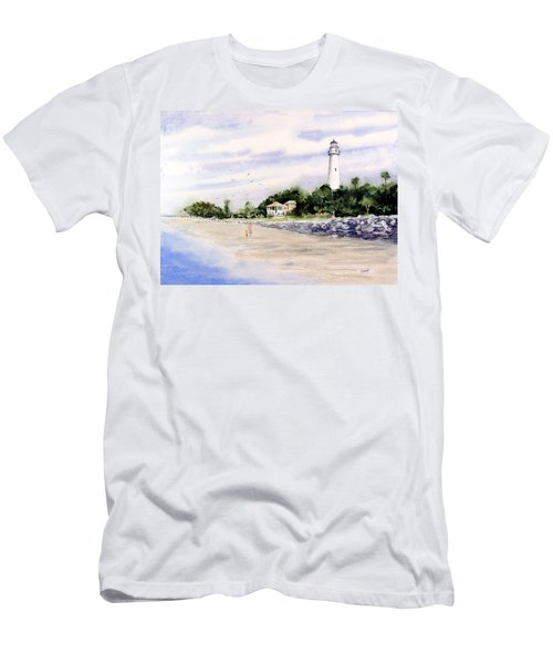 On The Beach At St. Simon's Island Men's T-Shirt (Athletic Fit)