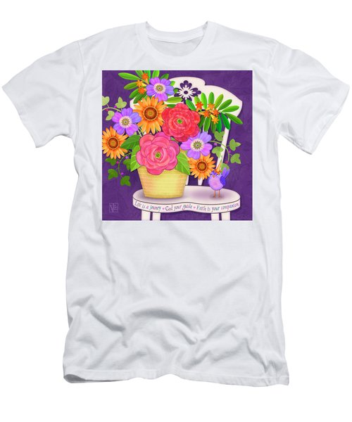 On The Bright Side - Flowers Of Faith Men's T-Shirt (Athletic Fit)