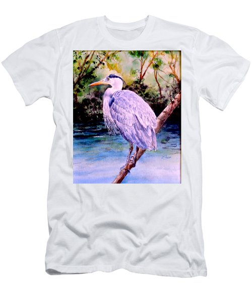 Men's T-Shirt (Slim Fit) featuring the painting On The Lookout by Sher Nasser