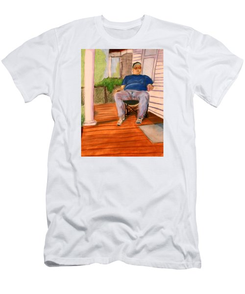 On The Porch With Uncle Pervy Men's T-Shirt (Athletic Fit)