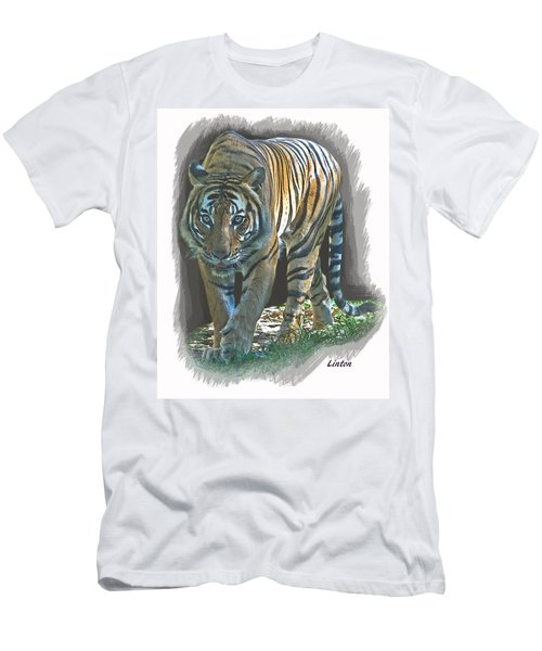 Men's T-Shirt (Athletic Fit) featuring the digital art On The Prowl by Larry Linton