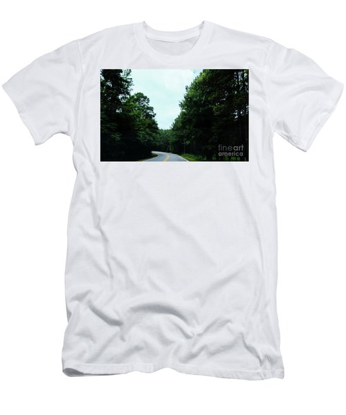 Men's T-Shirt (Athletic Fit) featuring the photograph On The Road by Andrea Anderegg