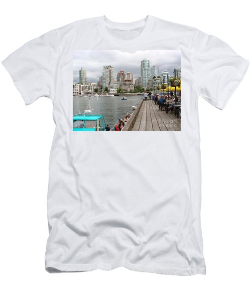 On The Water At False Creek Vancouver Men's T-Shirt (Slim Fit) by Rod Jellison