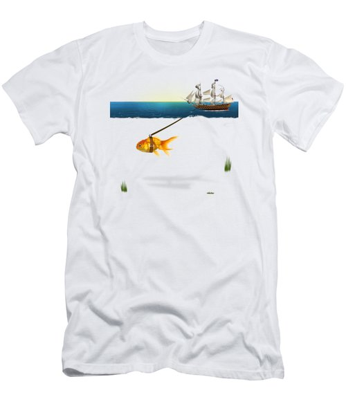 On The Way  Men's T-Shirt (Slim Fit) by Mark Ashkenazi