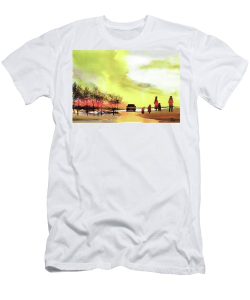 Men's T-Shirt (Slim Fit) featuring the painting On Vacation by Anil Nene