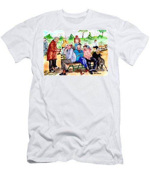 Once Upon A Park Bench Men's T-Shirt (Athletic Fit)