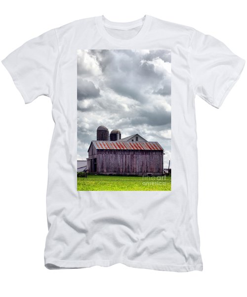 Men's T-Shirt (Slim Fit) featuring the photograph One Fine Cloudy Day  by Polly Peacock