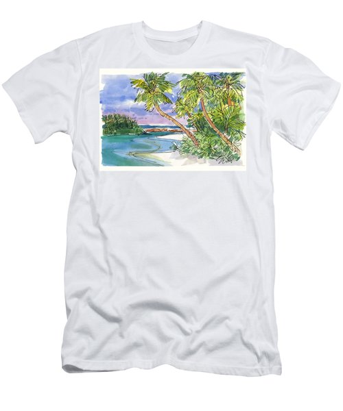 One-foot-island, Aitutaki Men's T-Shirt (Athletic Fit)