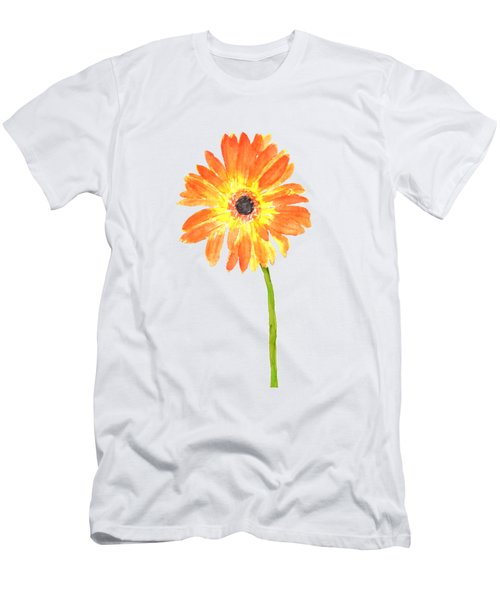 One Orange Gerbera  Men's T-Shirt (Athletic Fit)
