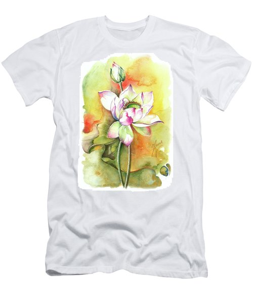 Men's T-Shirt (Slim Fit) featuring the painting One Sunny Day by Anna Ewa Miarczynska
