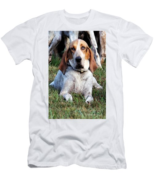 Men's T-Shirt (Slim Fit) featuring the photograph One Tired Hound by Polly Peacock