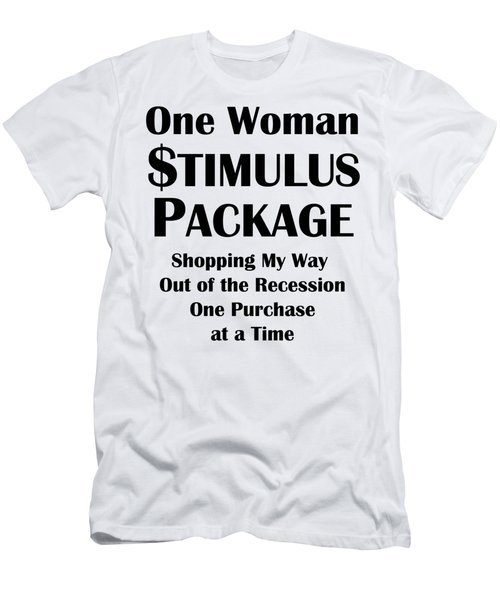 One Woman Stimulus Package Men's T-Shirt (Athletic Fit)
