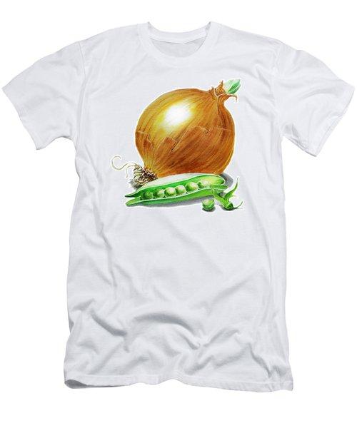 Onion And Peas Men's T-Shirt (Slim Fit) by Irina Sztukowski