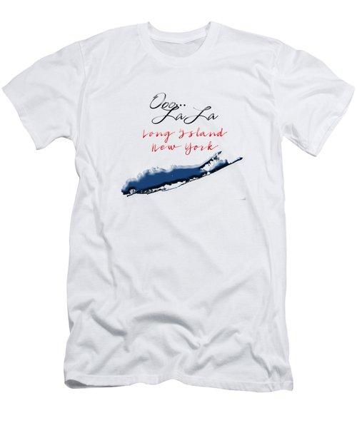 Ooo La La Long Island Men's T-Shirt (Slim Fit) by Judy Hall-Folde