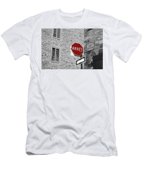 Optical Illusion, Quebec City Men's T-Shirt (Athletic Fit)