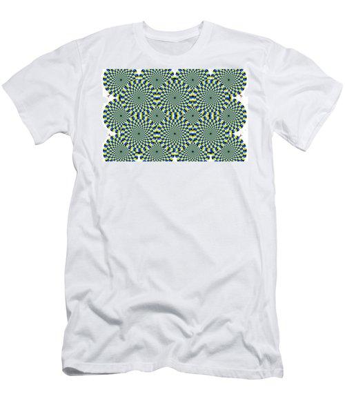 Optical Illusion Spinning Circles Men's T-Shirt (Slim Fit) by Sumit Mehndiratta