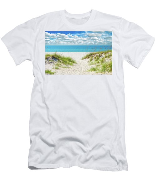 Orange Beach Al Seascape 1086a Men's T-Shirt (Athletic Fit)