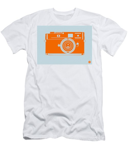 Orange Camera Men's T-Shirt (Athletic Fit)