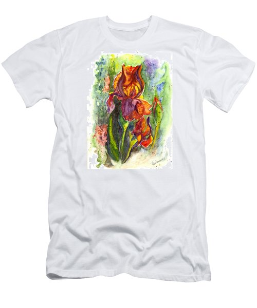 Men's T-Shirt (Slim Fit) featuring the painting Orange Ice by Carol Wisniewski