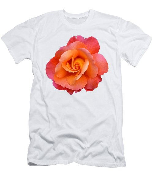Orange Rosebud Highlight Men's T-Shirt (Athletic Fit)