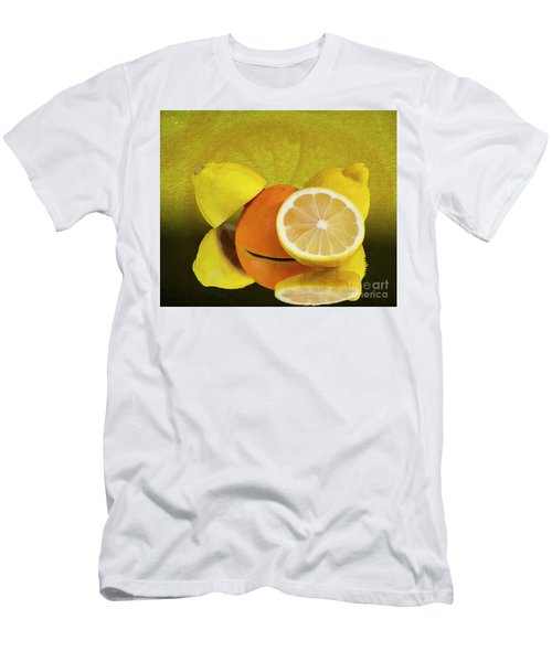 Oranges And Lemons Men's T-Shirt (Slim Fit) by Shirley Mangini