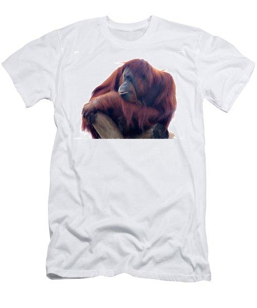 Orangutan - Color Version Men's T-Shirt (Slim Fit) by Lana Trussell