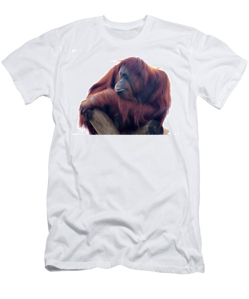 Orangutan - Color Version Men's T-Shirt (Athletic Fit)