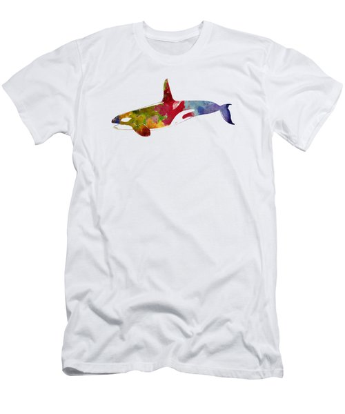 Orca - Killer Whale Drawing Men's T-Shirt (Athletic Fit)