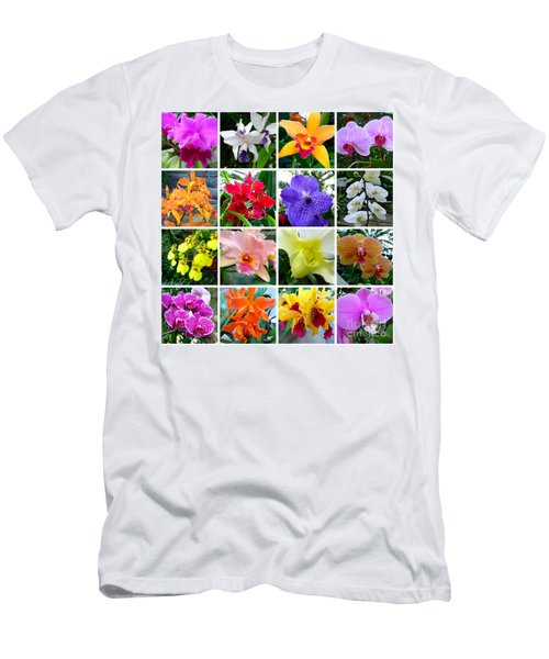 Orchid Collage Men's T-Shirt (Athletic Fit)