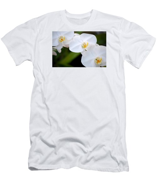 Orchid Flow Men's T-Shirt (Slim Fit) by Deborah  Crew-Johnson