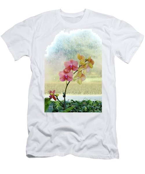 Orchid In Portrait Men's T-Shirt (Athletic Fit)