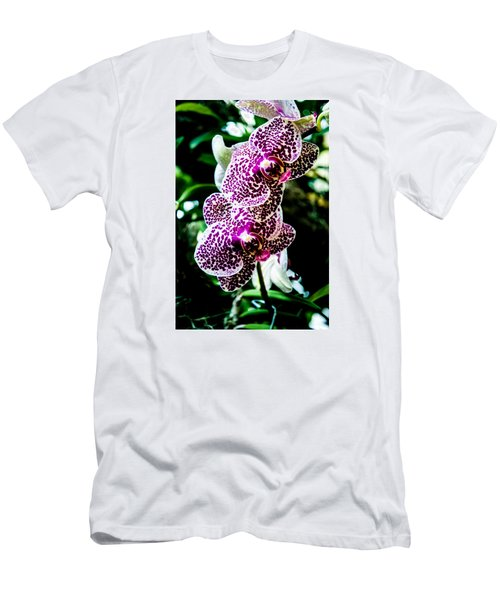 Men's T-Shirt (Slim Fit) featuring the photograph Orchid - Pla236 by G L Sarti