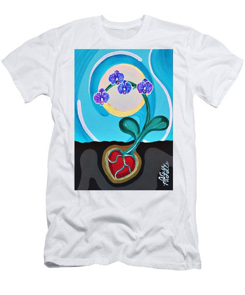 Orchids For My Love Men's T-Shirt (Athletic Fit)