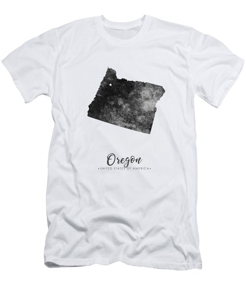 Oregon State Map Art - Grunge Silhouette Men's T-Shirt (Athletic Fit)