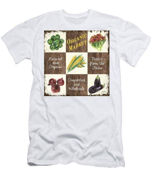 Organic Market Patch Men's T-Shirt (Slim Fit) by Debbie DeWitt