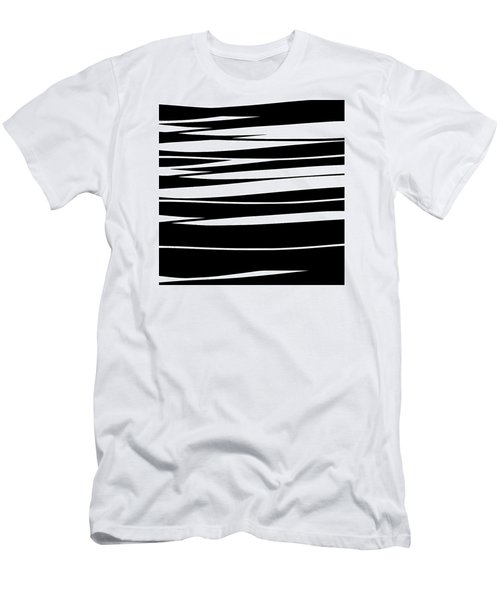 Organic No 9 Black And White Men's T-Shirt (Athletic Fit)