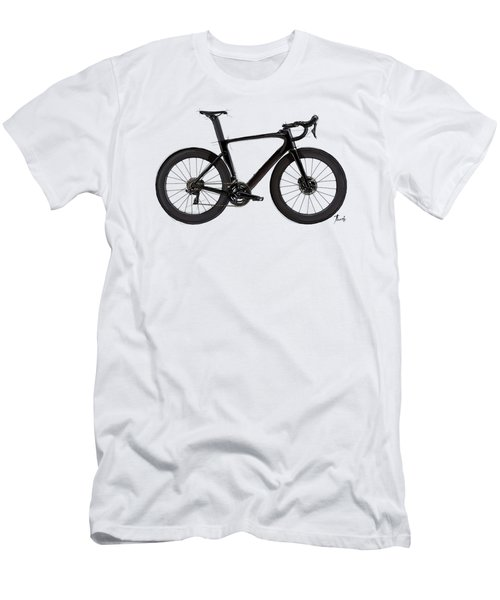 Original Bicycle Drawing. Color Sketch Gift For Bikers Men's T-Shirt (Athletic Fit)
