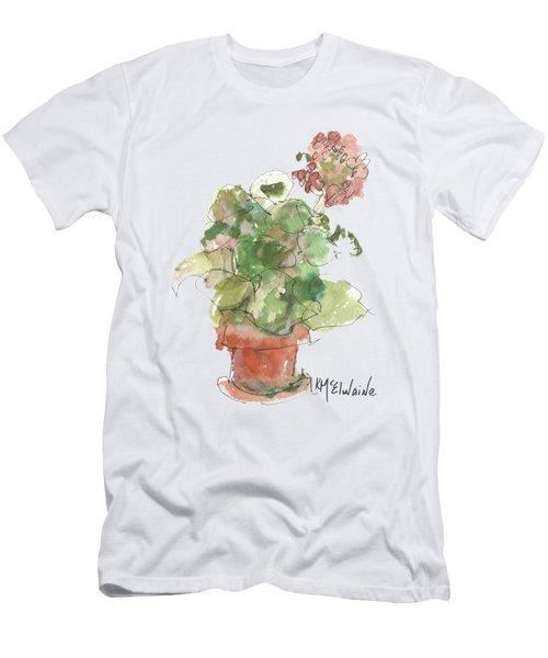 Original Buspaintings Geranium Watercolor Painting By Kathleen Mcelwaine Men's T-Shirt (Athletic Fit)