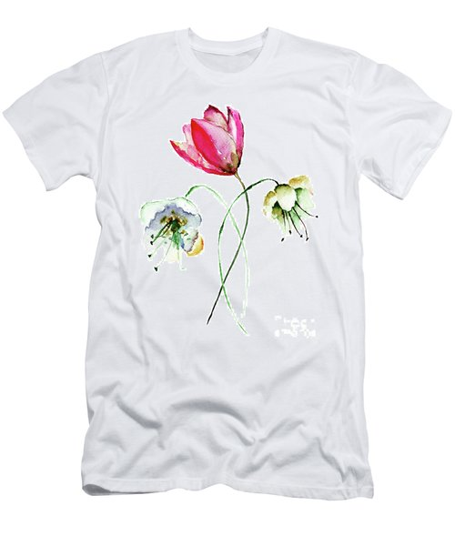 Original Summer Flowers Men's T-Shirt (Athletic Fit)
