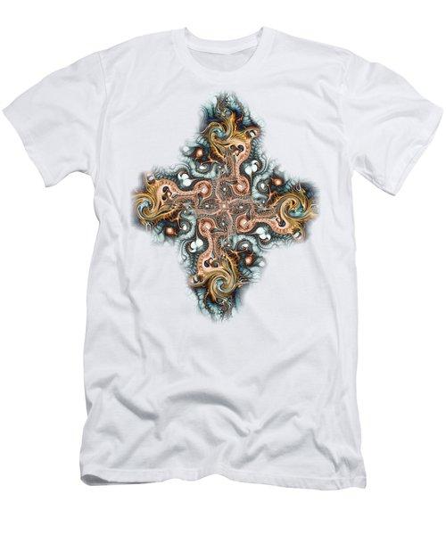 Ornate Cross Men's T-Shirt (Athletic Fit)
