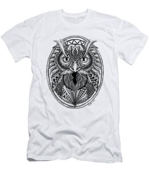 Ornate Owl Men's T-Shirt (Athletic Fit)