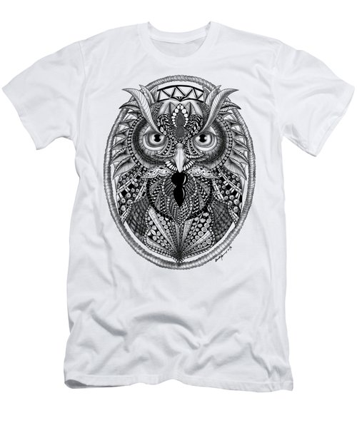 Ornate Owl Men's T-Shirt (Athletic Fit)