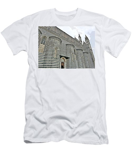 Orvieto Cathedral In Italy Men's T-Shirt (Athletic Fit)