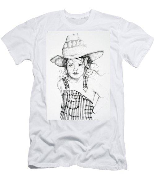 Men's T-Shirt (Slim Fit) featuring the drawing Osh Kosh by Mayhem Mediums