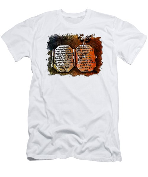 Our Father Who Art In Heaven Earthy Rainbow 3 Dimensional Men's T-Shirt (Athletic Fit)